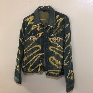 Vintage NY and Co Blue/Gold Tie Dye Jean Jacket